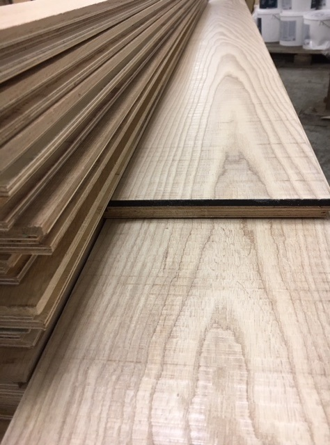 band sawn natural ash flooring