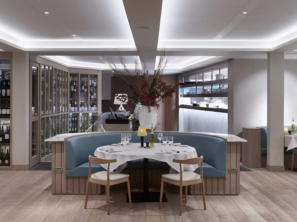 Band Sawn Natural Oak engineered Flooring created for Rick Steins Sandbanks restaurant