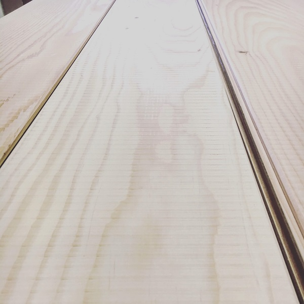 Engineered Douglas Fir flooring with a band sawn finish