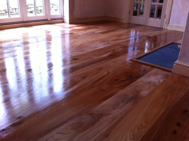 English Elm Flooring  - just oiled