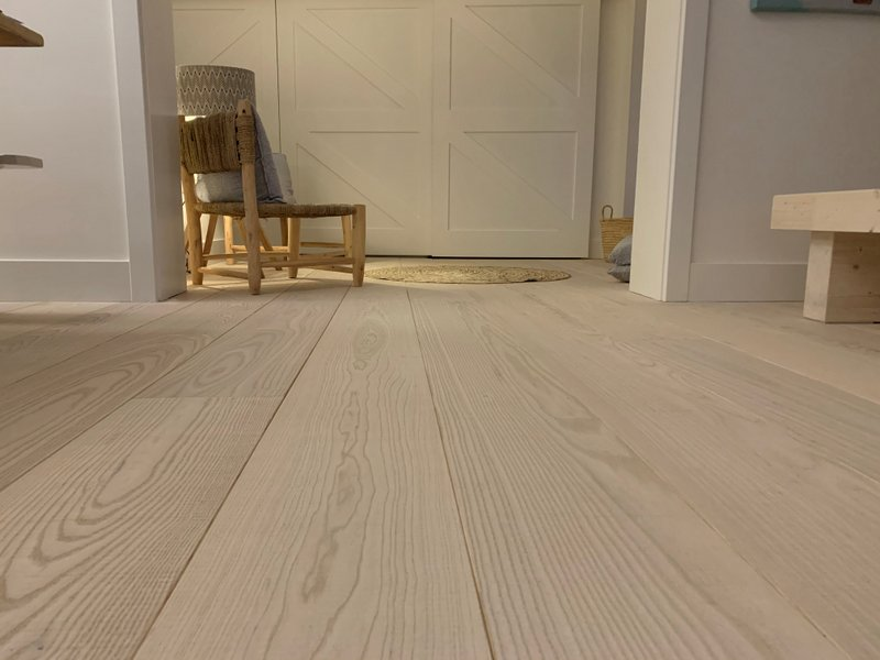 Engineered White Ash Flooring -  Natural Stain & Textured