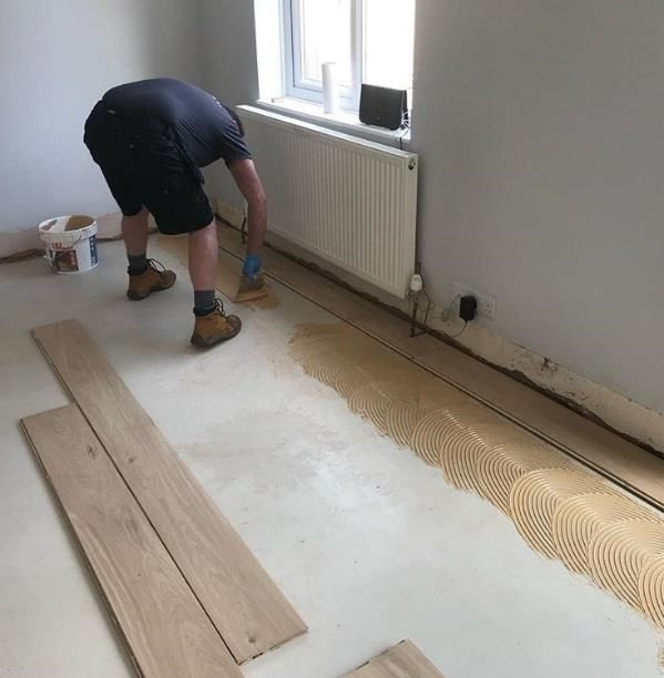 how to lay install engineered wood flooring glue down guide 1