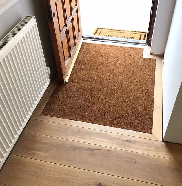 An inset coir doormat not only looks lovely, but one of the very best ways of looking after your wooden floor.