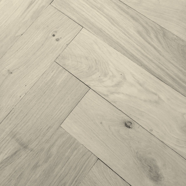 oversized natural oak parquet flooring