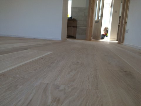 unfinished english oak engineered T & G flooring