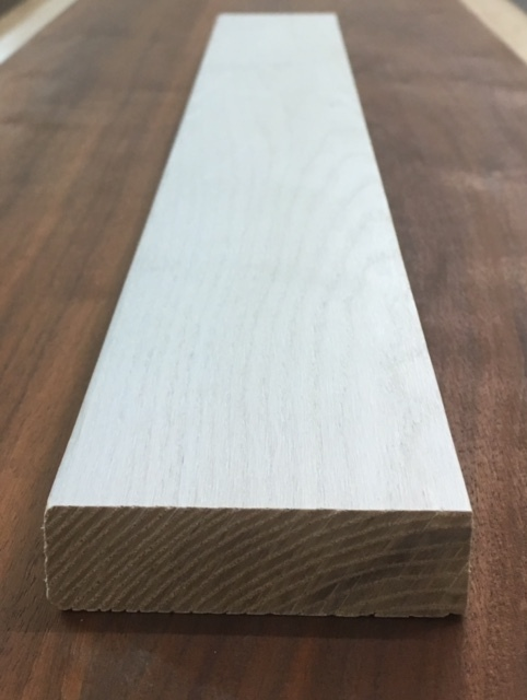 solid white ash stair nosing
